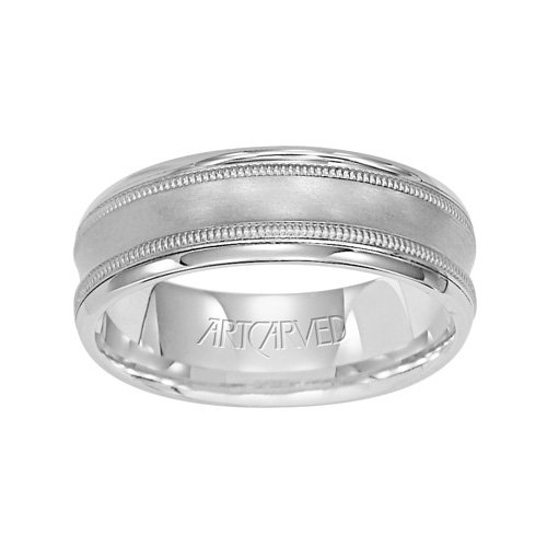 11-WV7269PD Cortini Carved Palladium Ladies Wedding Band from ArtCarved