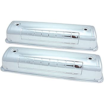 """Ford 292-312 /"""" Y /"""" Block Chrome Steel Valve Covers 1954-1964 F-100 T-Bird V8"""