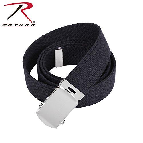 Men's Black-Chrome 44'' Military Web (Belts Web Clothing Accessories)