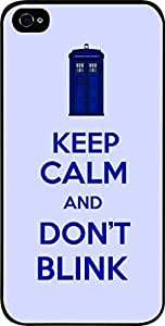 linJUN FENGKeep Calm and Don't Blink - Hard Black Plastic Snap - On Case-Apple Iphone 5 - 5s - Great Quality!