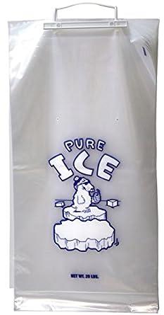Amazon.com: 20 lb plástico bolsas de hielo Wicket