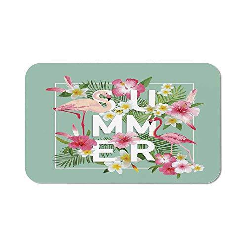 Floral Decor Wristband Mouse Pad,Tropical Flower with Flamingos Retro Wedding Romance Petals Graphic Art for Home Desk Computer Desk,11.81''Wx27.56''Lx0.08''H