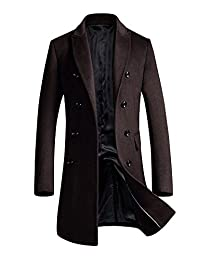 Men's Slim Fit Winter Wool Peacoat Overcoat