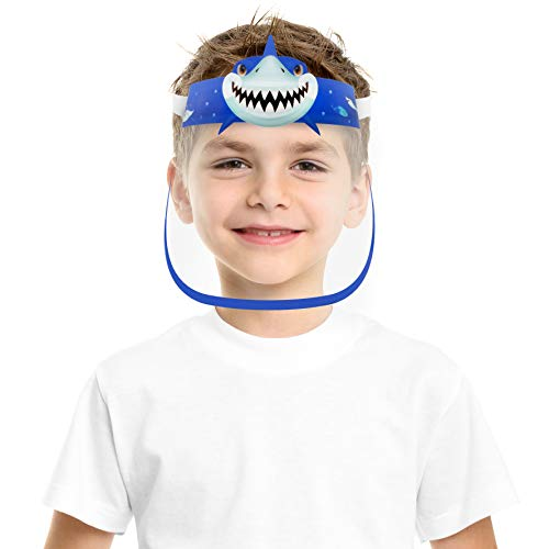 🥇 CUTE SMALL KIDS SIZE FACE COVER MASK WITH CLEAR VISOR ELASTIC BAND &CONFORT SPONGE ANTI SUN UV/DUST/SPLASH/SPITTING REUSABLE TRANSPARENT FOR CHILDREN