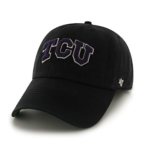 '47 NCAA Tcu Horned Frogs Franchise Fitted Hat, Black, ()