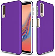 Idenmex Funda Case para Samsung A7 (2018) Doble Protector de Uso Rudo Express, Color Morado