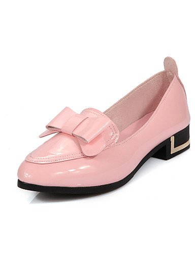 Zq Eu35 Redonda us8 punta Rosa Mujer Gyht Uk6 semicuero planos Plano tacón Zapatos De Cn34 Pink us5 Pink casual negro Blanco Uk3 Eu39 Cn39 rrq1w