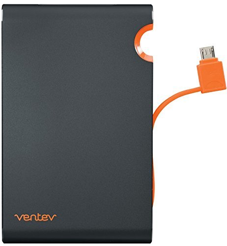 (Ventev powercell 6000c - Two Port 6000mAh Portable Battery with Attached Micro USB)
