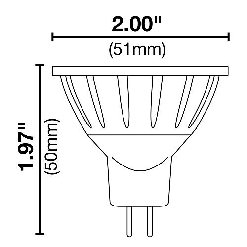 Halco LED MR16 4W 40DEG 5000K GU5.3 ProLED MR16BAB//850//LED 4w 10-18v LED Lamp Bulb 10 Qty