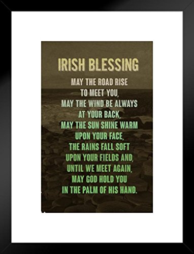 Poster Foundry Irish Blessing Art Print Matted Framed Wall Art 20x26 inch ()