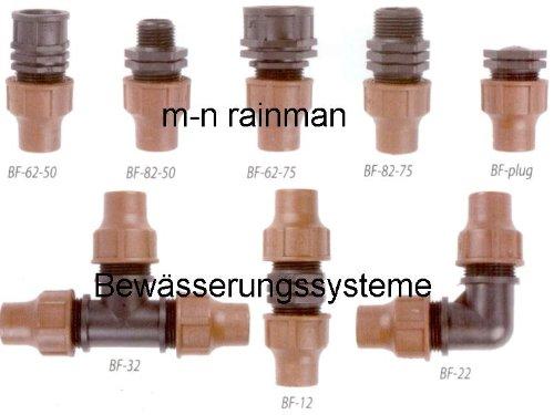 RAIN BIRD BF-Plug Lock Type Endstopfen f/ür 16 mm Rohr