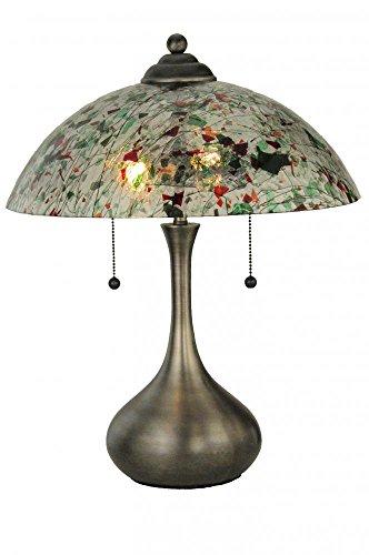 Meyda Tiffany 143292 Metro Fusion Confetti Glass Table Lamp, 21