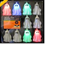 10 Count Halloween Ghost Musical LED Light String Battery Operated