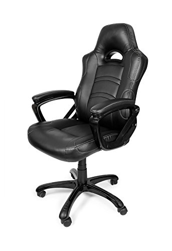 41d8g6iT6LL - Arozzi Enzo Series Gaming Racing Style Swivel Chair, Black