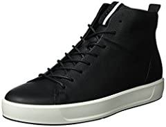 A modern and trendy long lace, deep cup sole styled high-top sneaker