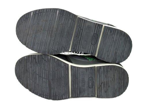BIKKEMBERGS 106265 - Zapatillas de caña alta de cuero hombre gris - Grau-Grün