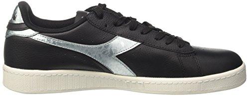 Diadora Herren Game Metallic Sneakers Schwarz (Nero/argento)