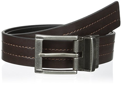 Levi's Boys' 30mm Reversible Boys Belt with Center Stitch, Brown/Black, Small