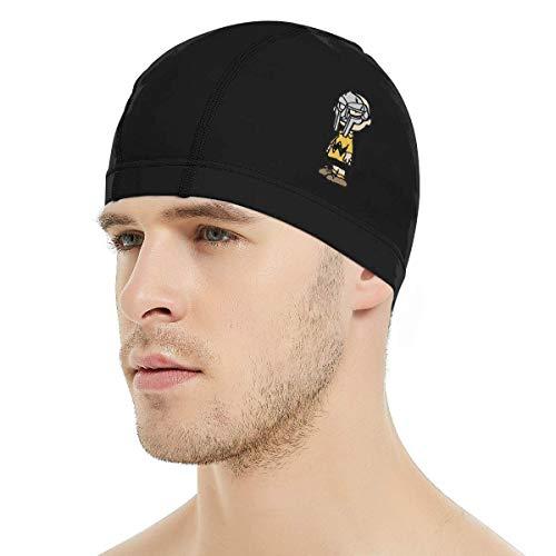 - Dunpaiaa Charlie Brown MF Doom Swim Cap, 3D Ergonomic Design Swimming Cap for Women Men Long Hair Short Hair Adult Swim Cap