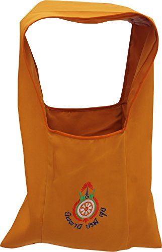 - Full Funk Thailand Monk Traditional Square Style Basic Bag with Buddhist Embroidery