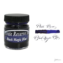Private Reserve 66 ml Bottle Fountain Pen Ink, Black Magic Blue
