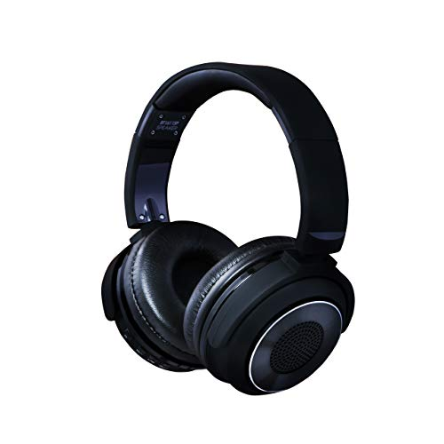 LHOTSE Bluetooth 4.2 Over Ear Headphone & Speaker 2 in 1 Wireless HiFi Stereo Headset 25 Hrs Music Playtime Built-in Microphone for PC/Cell Phones/TV (3.5mm AUX Audio Port and USB Cable Included)