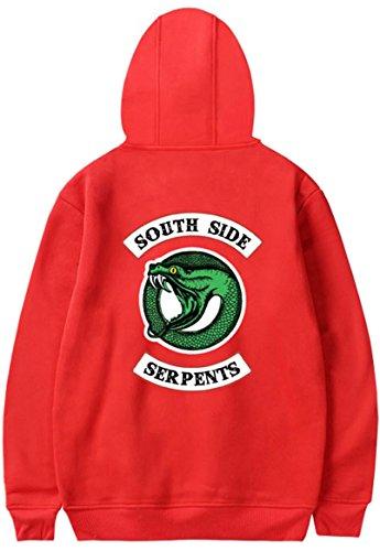 Sweat Avec Serpents Unisexe Pour À Pockets Rouge Big Hommes Capuche Femmes Southside Imprimer wIq1rIF