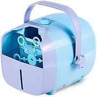 NATURALIFE Portable Bubble Machine Automatic Bubble Blower for Kids (Blue)