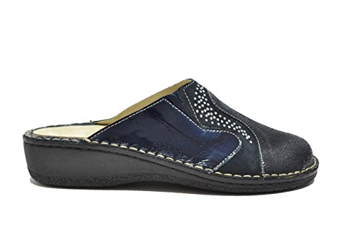 Cinzia Soft Ciabatte scarpe donna blu plantare estraibile IM24088SD