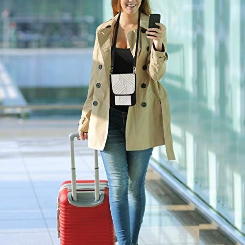 トラベルウォレット ミニ ネックポーチトラベルポーチ ポータブル 幾何柄 小さな財布 斜めのパッケージ 首ひも調節可能 ネックポーチ スキミング防止 男女兼用 トラベルポーチ カードケース