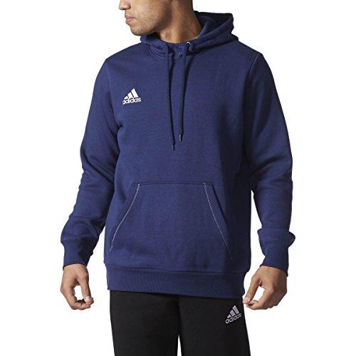 Blu Ribbed Jersey (Adidas Mens Core 15 Hoodie Large Blue)