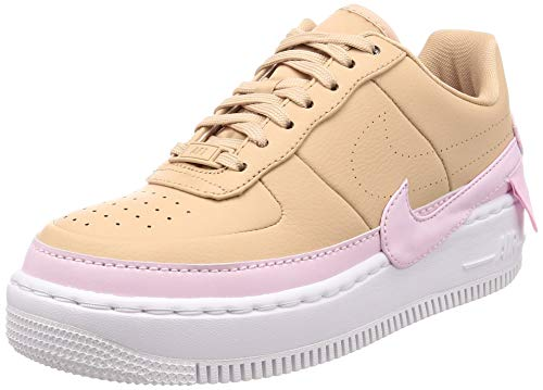 Nike Women's AF1 Jester XX Bio Beige/White/Pink Force AO1220-202 (Size: 7.5) (Nike Air Max 2014 Pink And Grey)