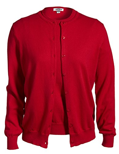Averill's Sharper Uniforms Women's Ladies Fine Gauge Twin Sweater Set Medium Red
