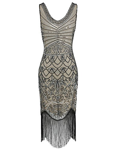 e6a1b1e2 1920s Sequin Flapper Dress Great Gatsby Inspired Embellished Cocktail Dress