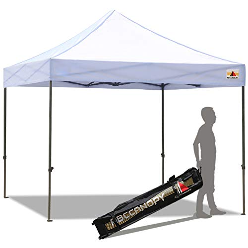 ABCCANOPY 30+Colors Pop up Canopy Folding Heavy Duty Commercial Instant Canopy,Bonus Carrying Bag,10x10White
