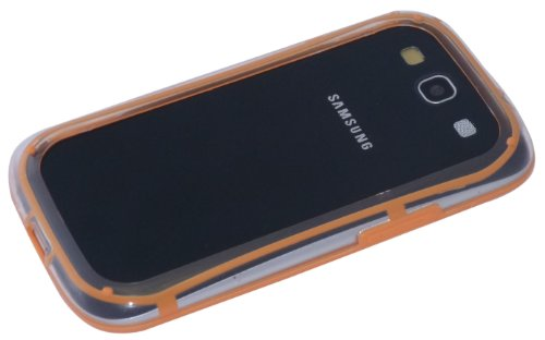 avci Base 4260310641980 Bumper Coque en silicone TPU pour Samsung Galaxy S3 i9300 Orange