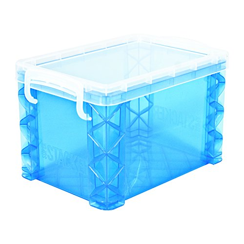 (Super Stacker 4 x 6 Inch Index Card Box, Assorted Colors, 1 Box (61614))