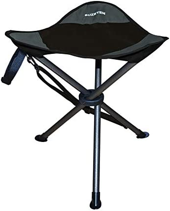 Suzeten Slacker Chair Folding Tripod Stool Lightweight Portable for Outdoor Camping Fishing Hiking Hungting and Beach