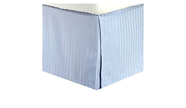 300tc algodón egipcio rey (nosotros Reina) falda de cama rayas azul por Marrikas: Amazon.es: Hogar