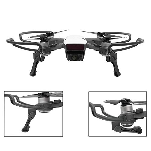 O'woda 2 in 1 DJI Spark Propellers Guard with Foldable Landing Gear Quick Release Props Bumper Protective - Guards Spark