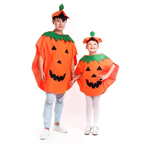 iMucci Halloween Costume Sets - Pumpkin Cloth Fancy Cosplay Party Costumes, 24pcs Pumpkin Candy Bags for Adult -