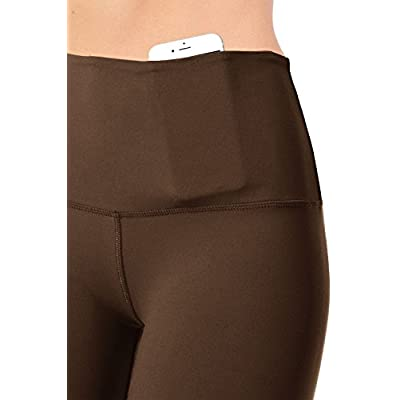 VIV Collection Signature Full Length & Capri Leggings Yoga Waistband | Solid Brushed at Women's Clothing store
