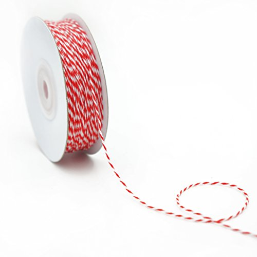 CT Craft Bakers Twine 1mm x 100 Yard.Decorative Bakers Twine for DIY Crafts and Gift Wrapping -Red