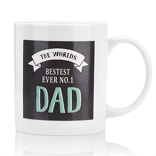 I Love Daddy Mug,Syslux Simple Ceramic Coffee Milk Cup Porcelain Mugs,Best Mom & Dad Gifts - Father's Day 12 oz Ceramic Teacups,Birthday Gift For Parents (white)