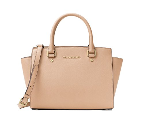 MICHAEL Michael Kors Selma Medium Tz Satchel Oyster Satchel Handbags by MICHAEL Michael Kors