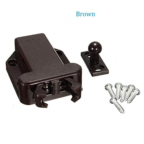 30Pcs/Lot Push to Open Touch Release Catch Cabinet Cupboard Door Latch Beetle Conceal Handle - (Color: Brown) by Kasuki (Image #2)