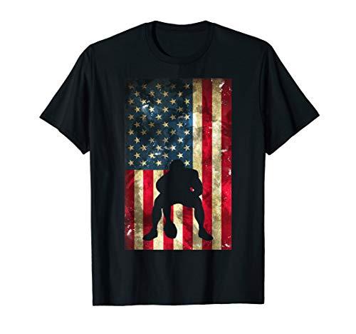 USA Flag Football Shirt - Pittsburgh Lineman Gift Tee
