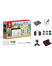 """Nintendo Switch Animal Crossing: New Horizons Edition 32GB Console Bundle, Pastel Green and Blue Joy-Con, 6.2"""" Touchscreen LCD Display, Family and Holiday Gift, W/ GM 14-in-1 Supper Kit Case"""