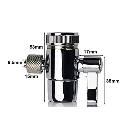 Amazon.com : Fumak: Faucet Adapter Diverter Valve Counter Top Water Filter 3/8 Inch Tube Silver Connector for Ro Water Purifier System : Sports & Outdoors