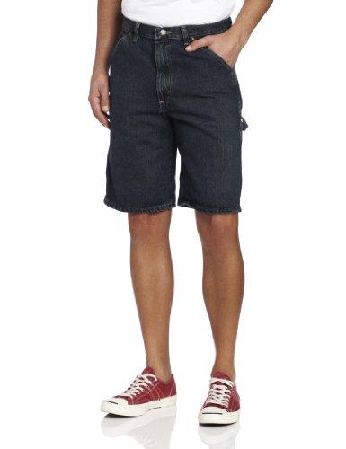 Carpenter Blue Jeans Shorts - Wrangler Men's Rugged Wear Carpenter Short, Dark Quartz, 38